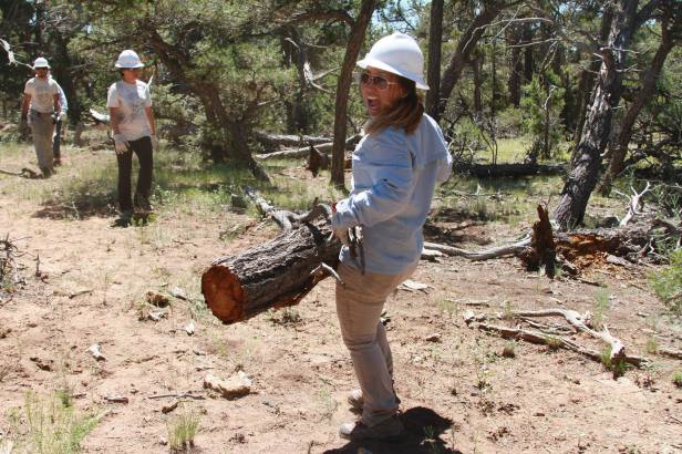 That's me! Enjoying the service work with the Wildfire crew. Photo credit: Sarah Lechich