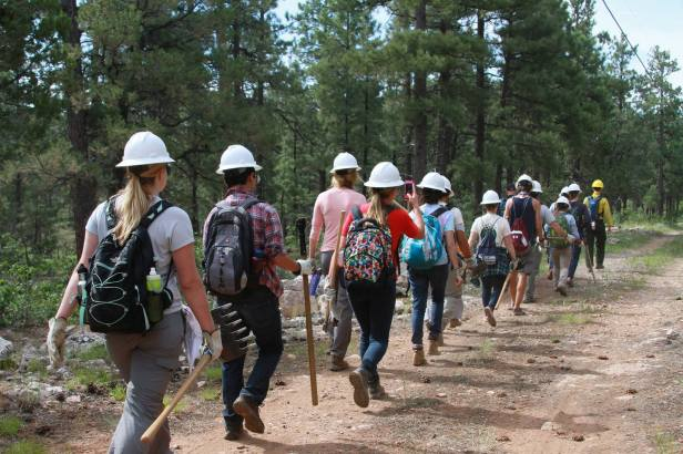 Marching to Our Hand Line Photo credit: Sarah Lechich