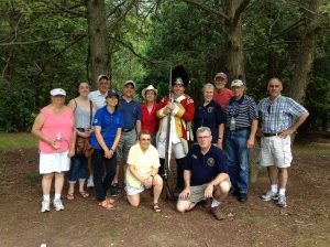 Boston National Historical Park volunteers with Ranger Roger Fuller at Minute Man National Historical Park.
