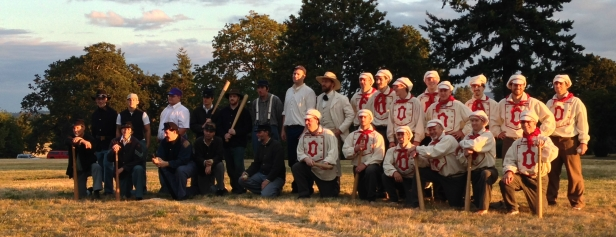 The Sherman and Occidental Base Ball clubs after a successful game of ball