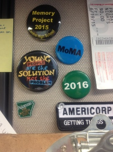 Some of the buttons on my desk