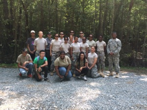 Some of our volunteers--Fort Lee soldiers and RNBP Youth Conservation Corps