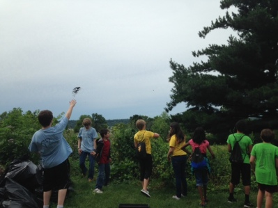 This is another seed bomb activity, this time at a habitat restoration event for a summer youth group.