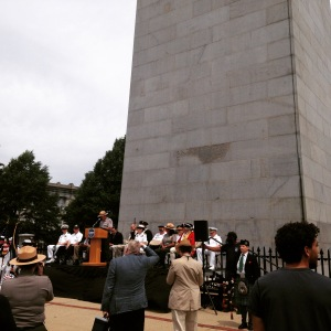 Superintendent Michael Creasey in front of the Bunker Hill Monument
