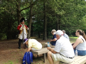 Roger Fuller, the Volunteer Coordinator, also does reenactments as a Park Ranger.