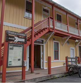 Catch a tour or a train at the Thurmond visitor center!