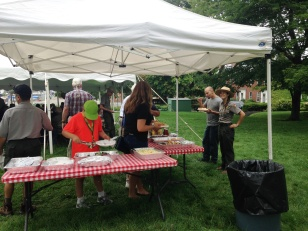 Food was available to Park staff, volunteers, and their guests. Some Park Rangers and staff who used to be VIPs at Boston NHP, Boston African American NHS, and other parks were sent invitations as well.