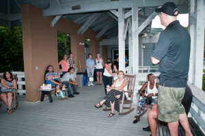 Lloyd speaking about the importance of the Everglades.