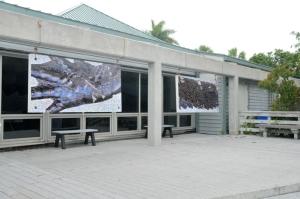 Two of the outside photomosaic panels.