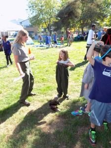 A Ranger-to-be gets ready for her shift at Seattle's Every Kid in a Park Kickoff Event