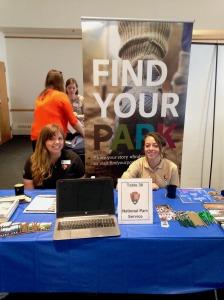 Kristina and I at the Brandeis University Social Impact Job, Internship, and Volunteer fair