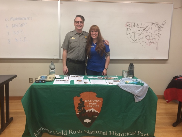 Ranger Josh and I at the Opportunity Fair