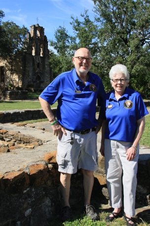 Ed & Darla Piner at Mission Espada