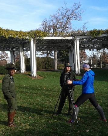 Filming the 100 years of NPS uniforms video (coming soon!)