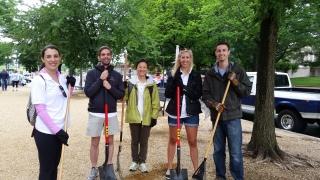 Working alongside volunteers