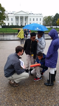 Teaching 4th graders outside the White House
