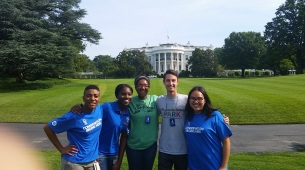 SCA and NPS gardening at the White House